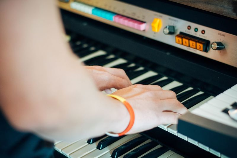 Music Musical Equipment Piano Piano Key Arts Culture And Entertainment Musical Instrument Playing Human Hand Hand One Person Human Body Part Keyboard Close-up Real People Musician Lifestyles Indoors  Leisure Activity Skill  Keyboard Instrument