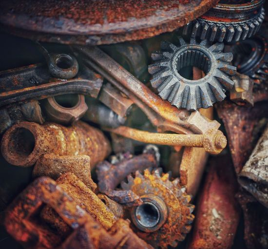 Metal Rusty Metal Rusty Things Rustygoodness Scrap Screw Scrap Metal Gearwheels Gear Nail Rusty Deterioration Obsolete Bad Condition Damaged Nut - Fastener Padlock Abandoned Run-down
