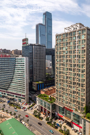 Changsha with The Wharf IFS Towers Architecture City Building Exterior Built Structure Building Office Building Exterior Sky Tall - High Skyscraper Modern Cityscape Day Tower Nature No People Outdoors Financial District  The Wharf IFS China Hunan Changsha Hunan Province, China