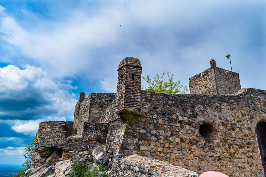 castelo de marvão Ancient Ancient Civilization Architecture Building Building Exterior Built Structure Castle Cloud - Sky Day Deterioration Fort History Low Angle View Nature Old Old Ruin Outdoors Ruined Sky Stone Wall The Past Travel Travel Destinations Wall