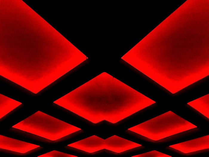 Crazy ceiling Red Pattern Backgrounds Close-up Full Frame No People Abstract Outdoors Day