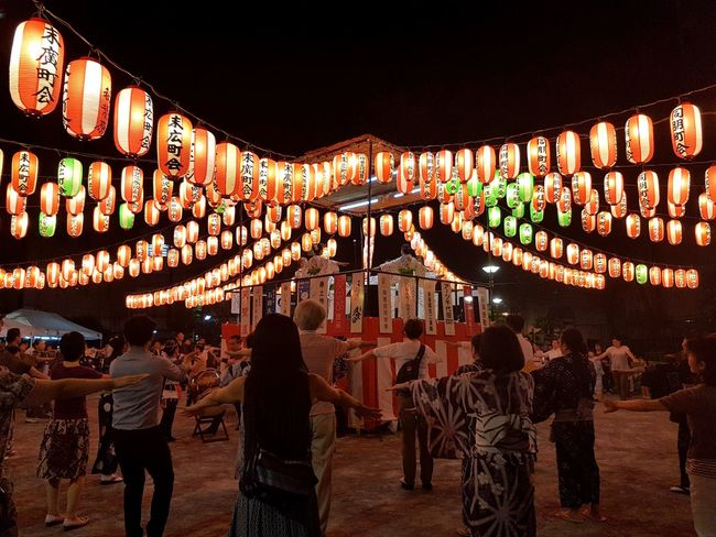 Night Illuminated Celebration Lighting Equipment Lantern Vacations Nightlife People Outdoors Japan Nature Photographer S7 The Way Forward Built Structure Celebration