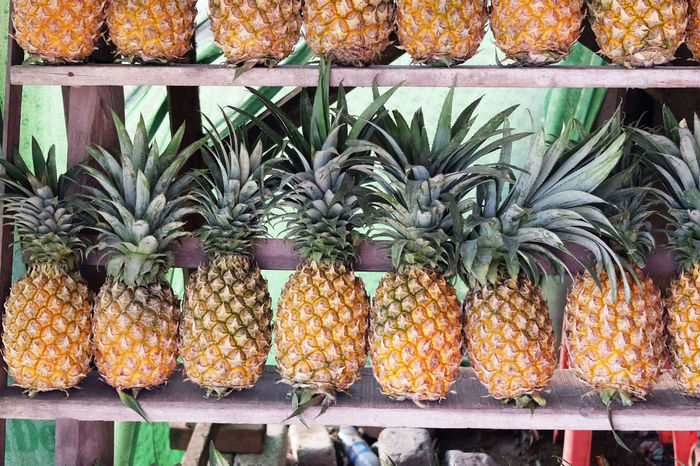 Pineapple, Vietnam. Ananas ASIA Clean Eating Diet Diet & Fitness Food Food And Drink Fruit Fruits Green Healthy Healthy Living Nature Pineapple Same  Summer Symmetrical Synchronicity Travel Vietnam Yellow