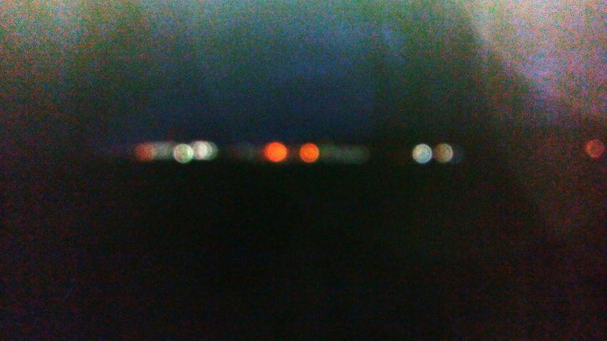 Illuminated Dark Night Electric Light Orange Color Full Frame Circle Geometric Shape No People