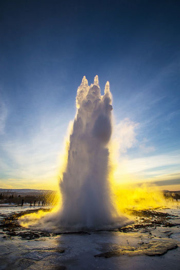 Geyser Strokkur, Golden Circle, Iceland, Europe Geyser Geysir Geysir Hot Springs Geyser Iceland Iceland Strokkur Geysir Strokkur Strokkur Geyser Sky Power In Nature Geology Heat - Temperature Nature Water No People Beauty In Nature Power Outdoors Motion Scenics - Nature Physical Geography Steam Cloud - Sky Erupting Sunlight Day Hot Spring