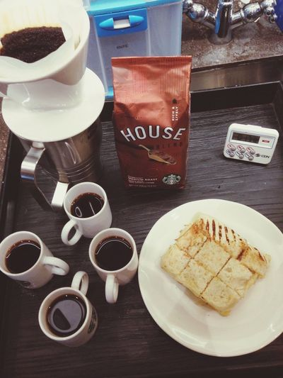 House blend for coffee tasting Coffeelovers Blackcoffee HouseBlend Starbuckscoffee