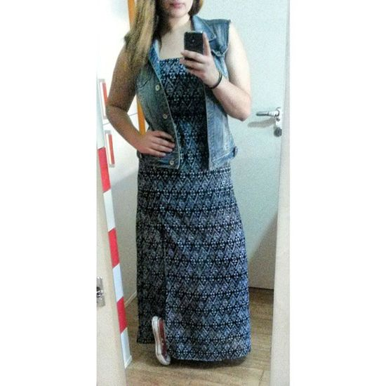 Today Dress Longdress Gilet jeansnofilter photooftheday love likeforlikesswag converse