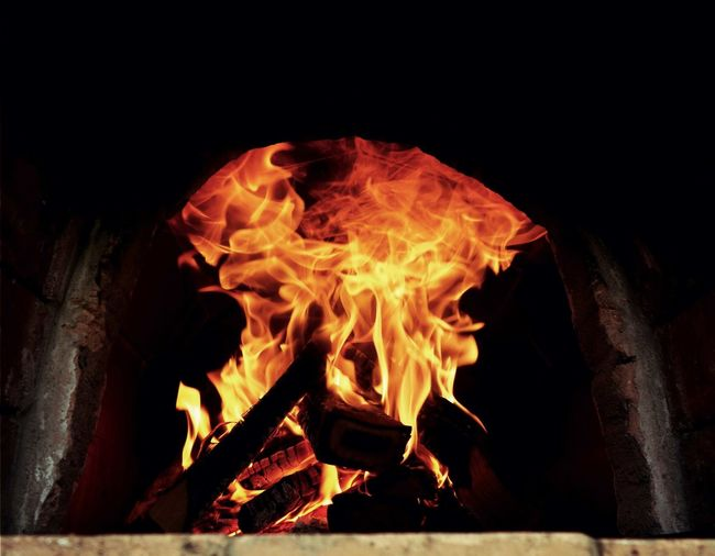 Backes Backofen Burning Burning Wood Fire Fire - Natural Phenomenon Flame Heat Heat - Temperature Oven Wood Burning