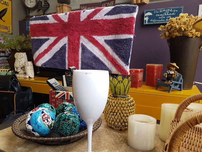 Decor Indoor Design Indoors No People Wine Not Wine Moments Flag Postcode Postcards Neatly Arranged Small Objects