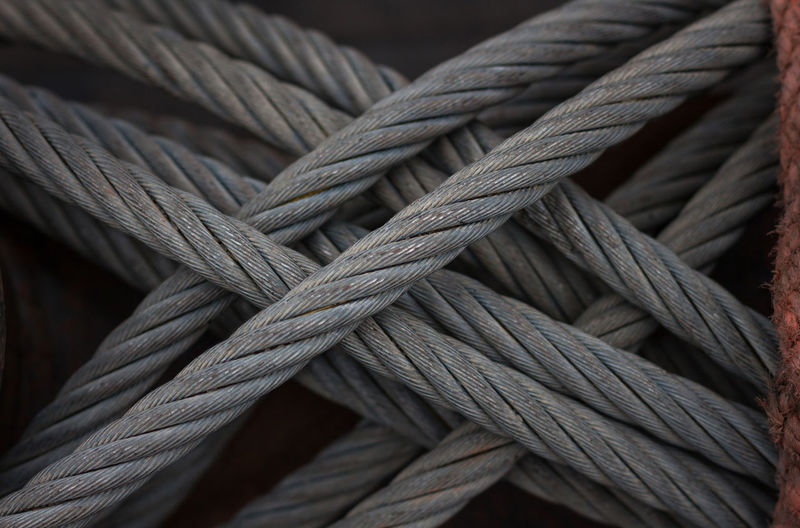 Close-up of rope tied up