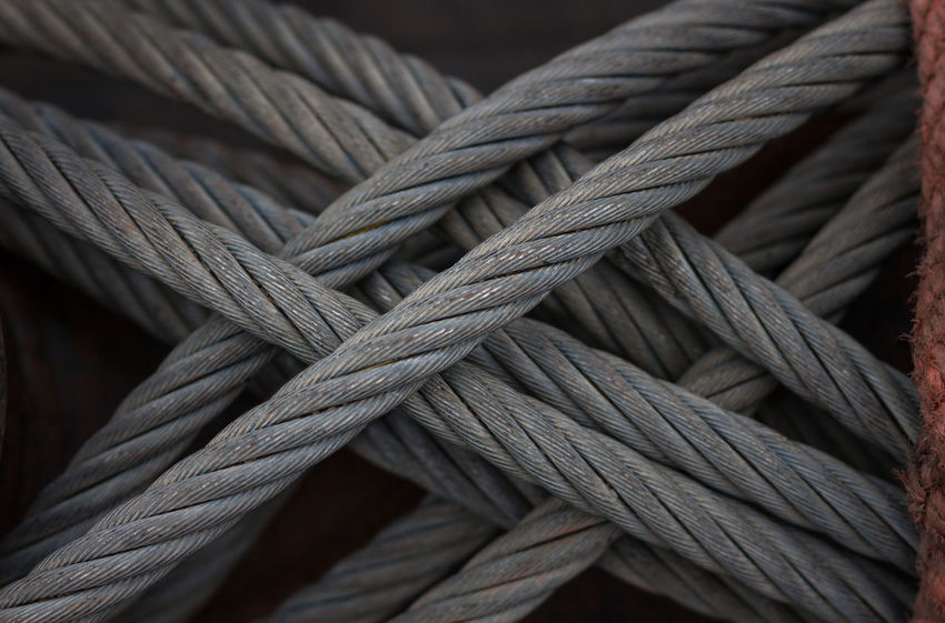 Arrangement Beautifully Organized Braided Close-up Contrast Crosswise Diagonal Diagonal Lines Grey Color Horizontal Knot Knotted Lines And Shapes Neatly Arranged Outdoors Properly Rope Rope Art Ropes Strength Textured  Textured  Textures And Surfaces Vertical Weave