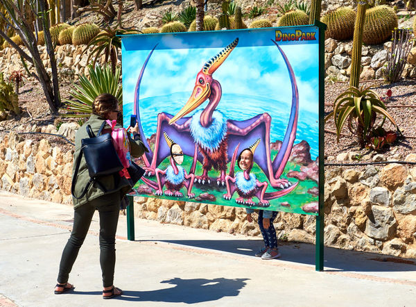 Algar, Spain - April 8, 2017: Mother taking a funny photo of a daughter in the Dino Park of Algar. It is a unique entertainment and educational park. Spain älgar Camera Cellphone Dino DinoPark Dinosaur Family Memories Mobile Phone Mother SPAIN Taking A Photo Amusement Park Daughter Day Dino Park Entertainment Park Outdoors Photographing Photography Real People Realistic Sunlight Sunny Day Young Adult