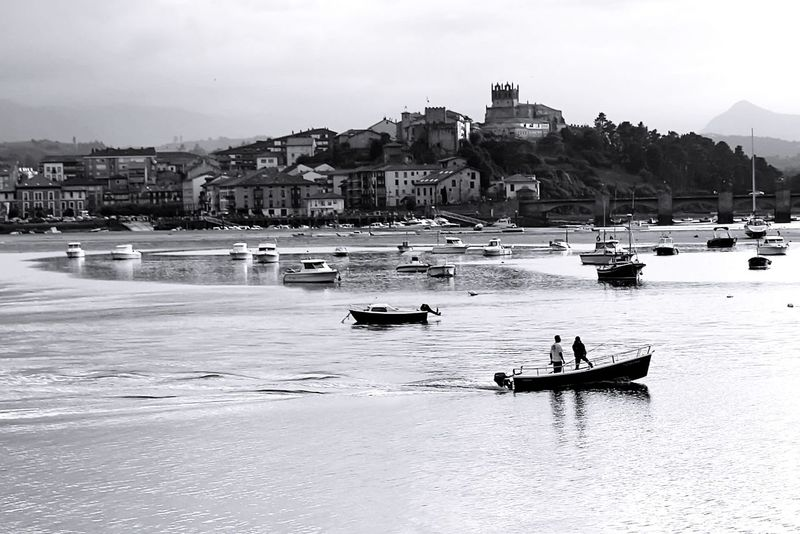 San Vicente de la Barquera Country City Sea Blancoynegro Blackandwhite B&n Cantabria San Vicente De La Barquera Boat Architecture Built Structure Building Exterior Water Nautical Vessel Transportation Mode Of Transport Real People People City