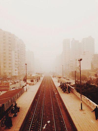 Fog Foggy Railway