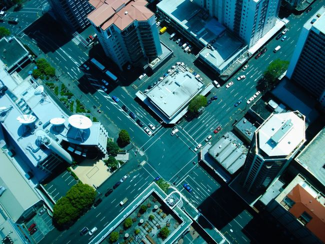 Viewing Deck City Building Exterior Architecture Roof High Angle View Cityscape Aerial View Street City Life Complexity Road Viewfromskytower New Zealand Photography EyeEm Gallery Skytower, Auckland. NZ. The Week On EyeEm