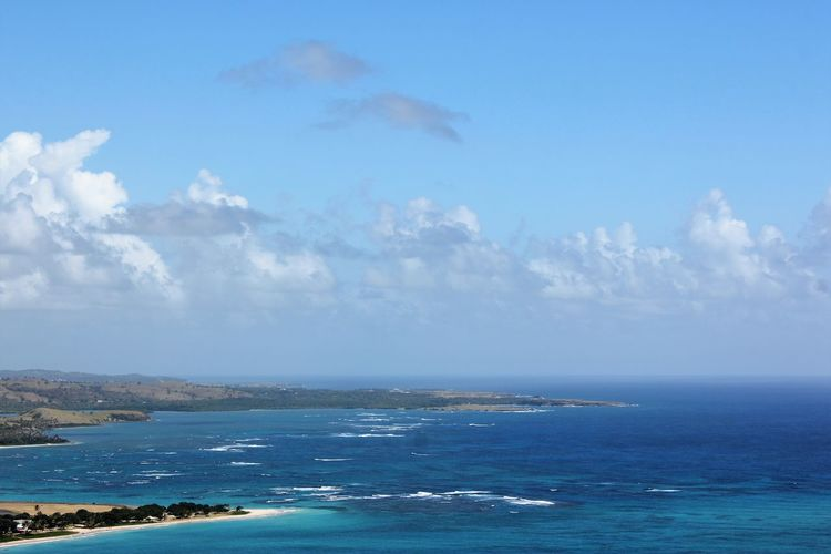 St. Lucia in the Caribbean Sea Water Sky Scenics - Nature Beauty In Nature Horizon Cloud - Sky Horizon Over Water Tranquil Scene Tranquility Blue Day Nature Idyllic No People Land Beach Outdoors St. Lucia Island