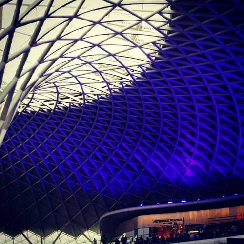 Leaving London alittle earlier than i would have liked to. Kingscross London Homebound Blue structure