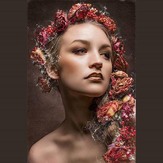 Kc alias Aphrodite Portraits Models Red Rosé Face Beauty Summer Schönheit Märchen
