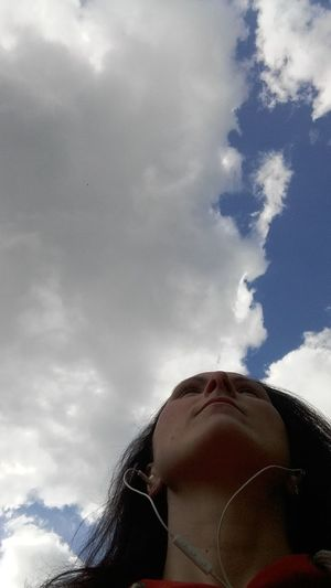 Dreaming With Eyes Open Head In The Clouds Young Women Women Headshot Eyes Closed  Sky Close-up Cloud - Sky Storm Cloud Sky Only Cloudscape Meteorology Overcast Atmospheric Mood Lightning