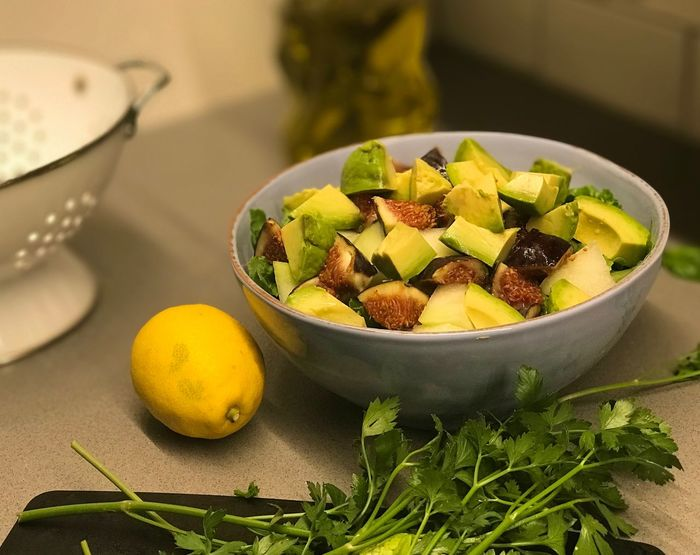 Figs Avocado Melon Summer Salad Lemon Healthy Eating Food Fruit Wellbeing Freshness Bowl Healthy Lifestyle Ready-to-eat