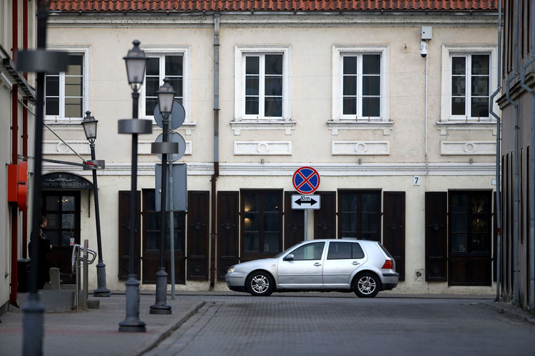 Kedainiai Old Town Lithuania Mark Sign Architecture Building Exterior Built Structure Car City Communication Day Kėdainiai Land Vehicle Mode Of Transport No People Outdoors Street Transportation
