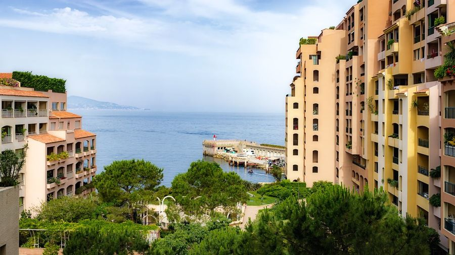 Sea view Monaco City Sea View Urban Urban Landscape Urbanphotography Sunny Day Pier Building Balcony Apartment Buildings Modern EyeEm Gallery Style EyeEm Sky And Clouds Urban Nature Summer Sky Sky And Sea Sky And City