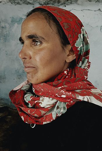 Close-up of a mid section of woman