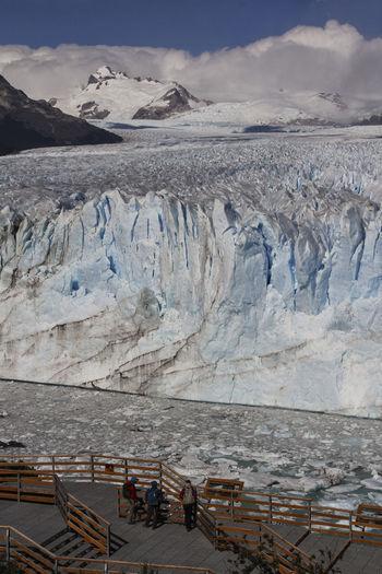 Glaciar Perito Moreno Glacier Perito Moreno. Patagonia. Argentina. Cold Temperature Sky Mountain Ice Snow Water Nature Scenics - Nature Landscape Beauty In Nature Environment Winter Cloud - Sky Travel No People Tranquil Scene Day Outdoors Snowcapped Mountain