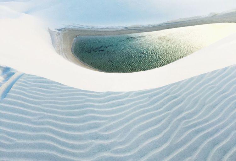 Lagoa Brazil Lagoon Dune Desert lake sand lençóis Miles Away
