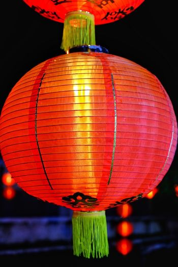 Are you ready for lantern Lighting Equipment Lantern Chinese Lantern Decoration Red Hanging Chinese Lantern Festival Illuminated Chinese New Year Celebration Night Festival Holiday Event Traditional Festival Paper Lantern Close-up
