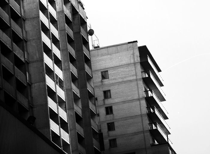 EyeEm Selects Architecture Building Exterior Built Structure Development Skyscraper Window City Day Modern Outdoors No People Low Angle View Clear Sky Growth Tall Apartment Sky Blackandwhite Blackandwhite Photography Black & White