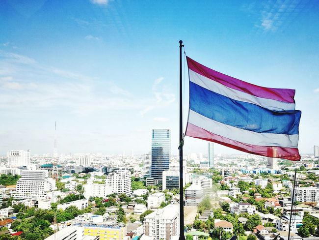 Proud to be Thai Thailand Landofsmiles Bangkok Thailand. Flag Cityscape City Sky Myoffice HuaweiP9 Leicaq Nofilter