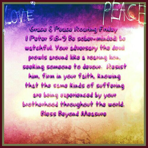 Grace & Peace Roaring Friday