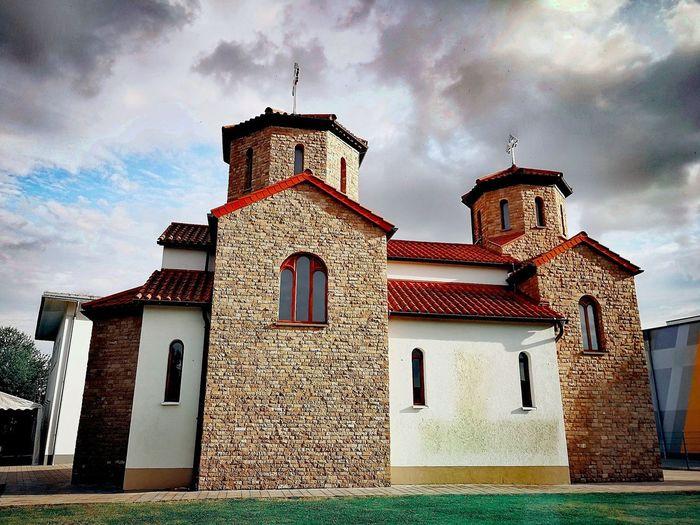 Façade Clock Religion Sky Architecture Building Exterior Built Structure Grass Cloud - Sky Building The Architect - 2018 EyeEm Awards