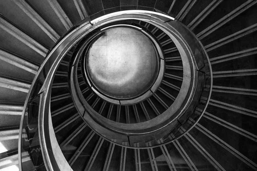 Steps And Staircases Staircase Steps Architecture Railing Spiral Circle Built Structure Indoors  No People Day Spiral Staircase