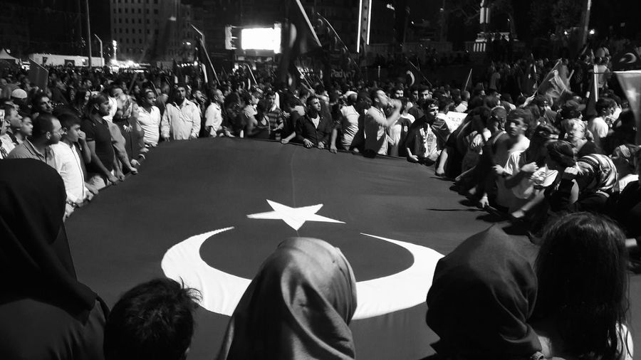 Got caught up in some pro-democracy demonstrations in Istanbul. Full pics on my camera - this taken from my phone. EyeEm Gallery Shootermag VSCO Street Photography Streetphotography Black And White Light And Shadow Shadow And Light Monochrome Turkey Istanbul Travel Darkness And Light EyeEm Best Shots Photojournalism People Photography People Monochrome Photography