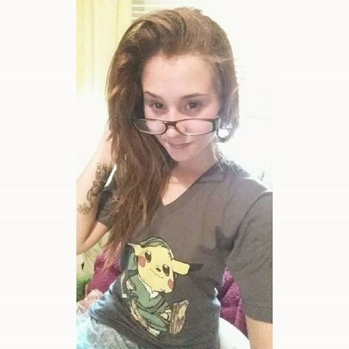 This top though 😍😍👌 Smiles Dimple  Sexyandiknowit Glasses Pokémon Pikachu Zelda Link Tattoos Horriblequality Womanwhoride Catchemall Bikergirlsofinstagram bikerbabes Slickstyleclothing Riderich Ridersalute Clutchpop Universalbikers Pimpstarlife Deffsamodel Model Pose Selfie Happy Life nintendo messyhair bedhair