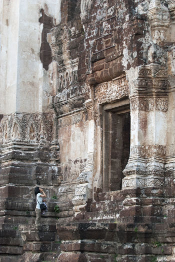 Ancient Ancient Civilization Architecture Built Structure History Lopburi Thailand Lopburi Art Lopburi Location Old Ruin One Person Real People Religion Tourism Travel Travel Destinations