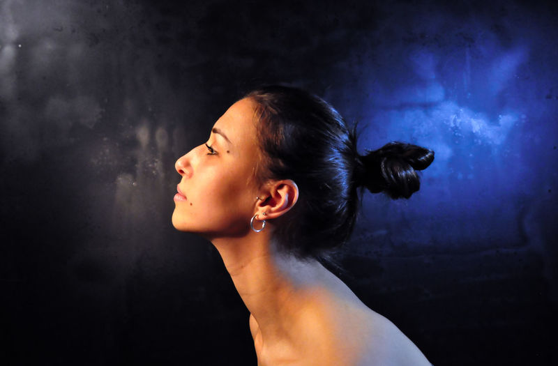 Headshot One Person Side View Indoors  Real People Lifestyles Wall - Building Feature Portrait Looking Young Adult Hair Bun Profile View Smoke - Physical Structure Hair Young Women Women Adult Looking Away Hairstyle Contemplation Human Face Beautiful Woman The Portraitist - 2019 EyeEm Awards