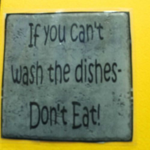 Kitchen Yellow Text Communication Message No People Close-up Indoors  Sign Grey Information Written