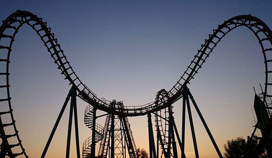 Spaceshuttle Enchantedkingdom Laguna Lostinph Rollercoaster Silhoutte Photography Themepark Sunset
