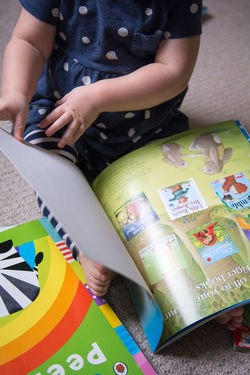 Toddler reading Books Cartoon Check This Out Child Illustrations Child Learning Child's Book Children Children Learning Childrens Books Childrens' Book Childsplay Early Learning Learning To Read Love Playing Read Toddler  Toddler Playing Drums 1st Time Playing Drums