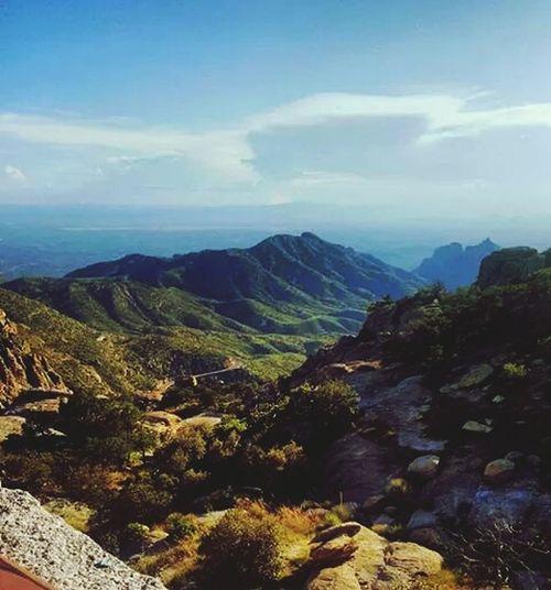 Southeast view from Mount Lemon in Tucson Arizona . Sept. 2014.