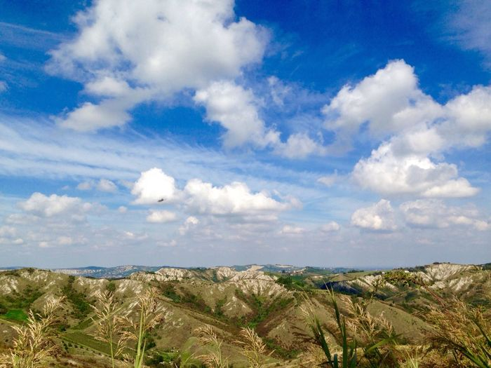 Cloudscape Badlands Panorama Italy