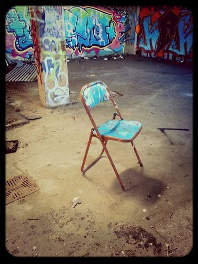 Abandoned Places Graffiti Theres Always A Chair Urbexexploring
