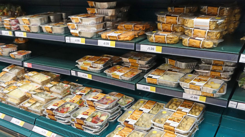 Complete meals wrapped in plastic on supermarket shelves Dinner For Two Dinner For One Eat Me Food For Sale Food On Shelves Fresh Food For Sale Quick Meals Uk Supermarket End Plastic Pollution