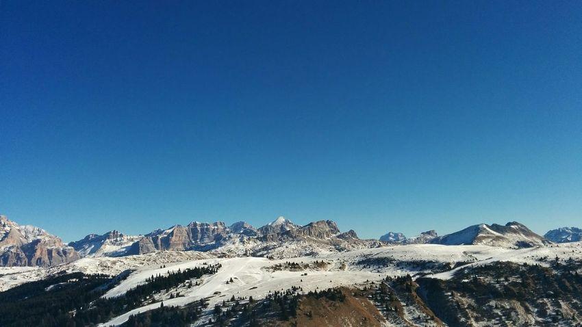 Spaziare. Beauty In Nature Blue Cold Temperature Dolomites, Italy Dolomiti Mountain Scenics Snow Tranquil Scene Tranquility Winter