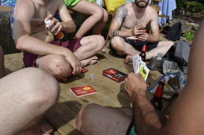 Human Hand Men Syringe Heroin Marijuana - Herbal Cannabis