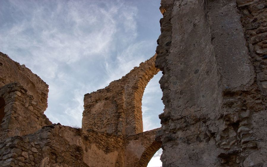 Castello della Valle Castle Ruin Day Low Angle View Nature No People Outdoors Sky Tourism