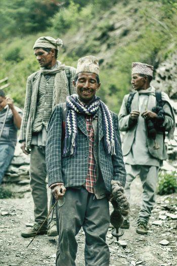 Viilage Man Making Wool Work Dress